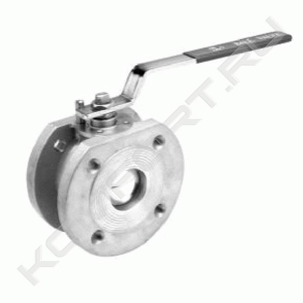 Кран шаровой полнопроходной пожаробезопасный, уплотнение PTFE